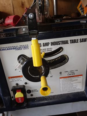 Chicago table saw. Used 1 time. for Sale in Columbus, OH