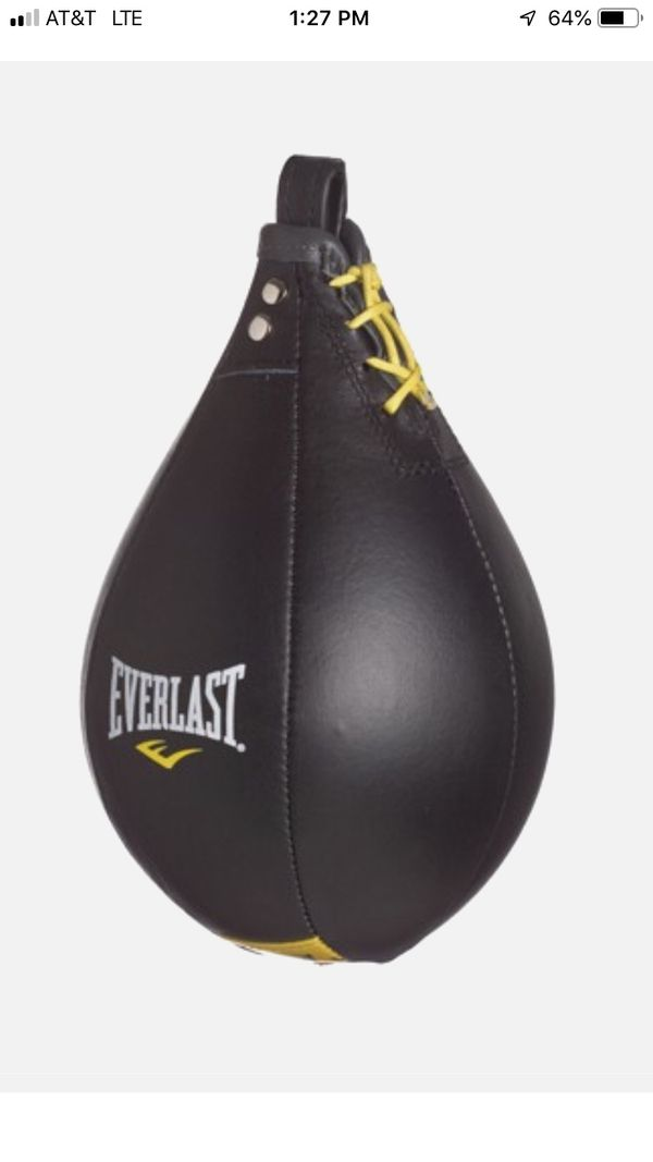 Everlast speed bag kit, bag, and double end bad