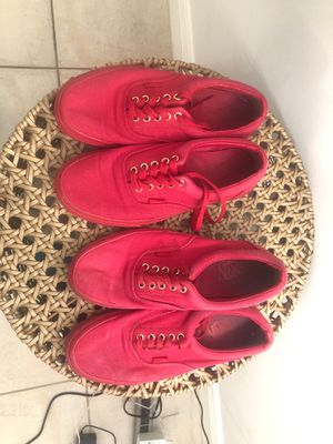 Red vans size 8.5 for Sale in Miami, FL