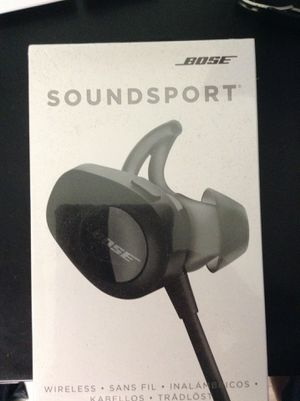 Brand new sealed Bose wireless sound sport black ear buds for Sale in Claremont, CA