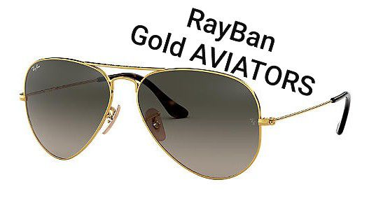Ray•Ban Gold AVIATORS RB3025