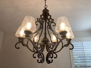 Beautiful iron 6 light chandelier for Sale in San Diego, CA