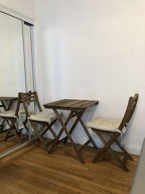 Wooden fold away kitchen table/chair set for Sale in San Francisco, CA