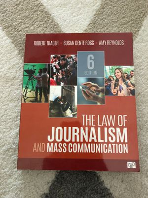 The Law Of Journalism And Mass Communications 6 Edition for Sale in Normal, IL