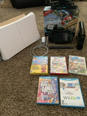 Nintendo Wii U Mario Kart 8 deluxe set with extra games for Sale in Enumclaw, WA