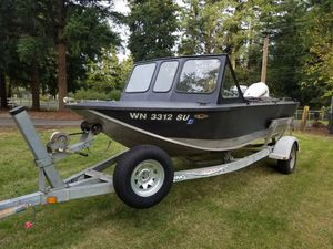 Aluminum Boat Motors and Trailer for Sale in Tacoma, WA