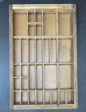 Vintage Typeset Tray for Sale in Portland, OR