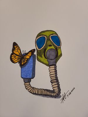 Butterfly and Gasmask for Sale in Gilmer, TX