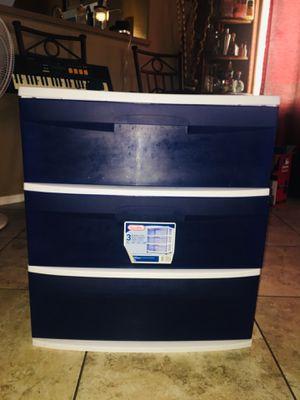 3 drawer plastic storage for Sale in Phoenix, AZ