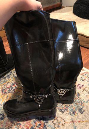 Micheal Kors black rain boots for Sale in Denver, CO
