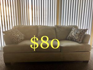 7ft Beige Sofa pet free/ smoke free home for Sale in San Diego, CA