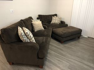Plush Microfiber Oversized Chair w/ Ottoman and Couch-NEW Condition! for Sale in Peoria, AZ