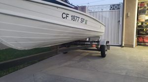 12 foot vintage Starceaft aluminum boat and trailer for Sale in Long Beach, CA