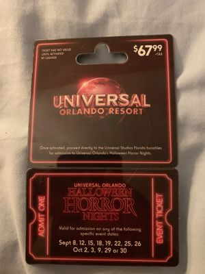 Halloween Horror Nights Ticket for Sale in Miami, FL