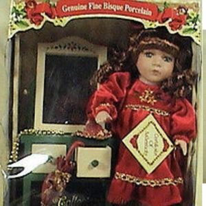 Collector's Choice Dan Dee Fine Bisque Porcelain Doll W/Vanity NIB W/Certificate for Sale in Inglewood, CA
