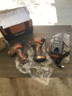 12-Volt Lithium-Ion Cordless Drill/Driver and Impact Driver Combo Kit with 2-Batteries, Charger and Bag for Sale in Tacoma, WA