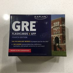GRE Flashcards + APP (4th Edition) for Sale in Katy,  TX