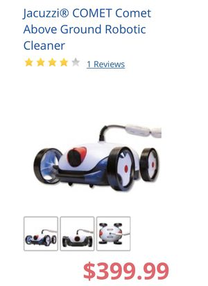 Jacuzzi comet above ground robotic pool cleaner for Sale in Corona, CA