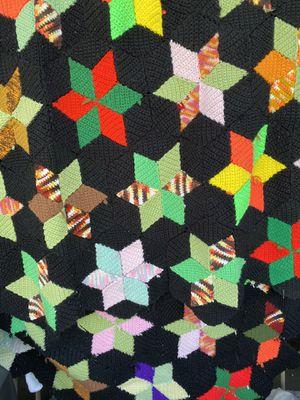 Multicolor star afghan throw. , blanket 5 x 7 feet for Sale in Fullerton, CA