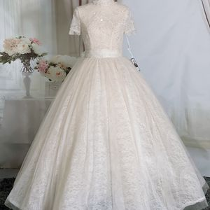 Blush High Neck Vintage Lace Romantic Ballgown University Wedding Dress/Quinceanera&Sweet 16 Dress for Sale in Fort Lauderdale, FL