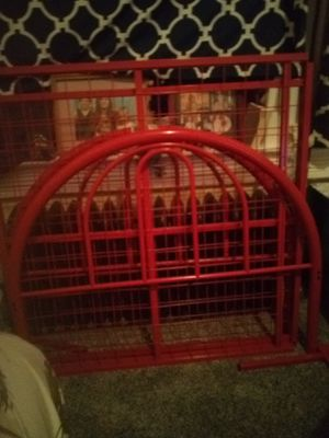Red metal twin bed frame for Sale in Helena, MT