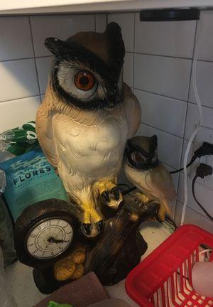 Antique vintage owl clock for Sale in Portland, OR