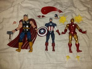 Marvel Legends 80th. Anniversary Thor, Captain America, Iron Man for Sale in Seattle, WA