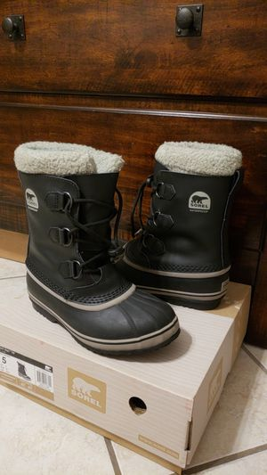 Sorel Youth Snow Boots Size:5 for Sale in Sunset Valley, TX