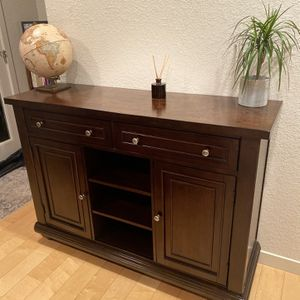 Like-new Solid cherry wood buffet table or console table for Sale in Portland, OR