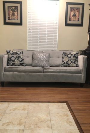 Gray Suede Let Out Sleeper Sofa. for Sale in Tampa, FL