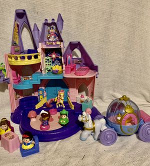 little people princess musical castle an musical carriage! free teddy bear with purchases!! for Sale in Buffalo, NY
