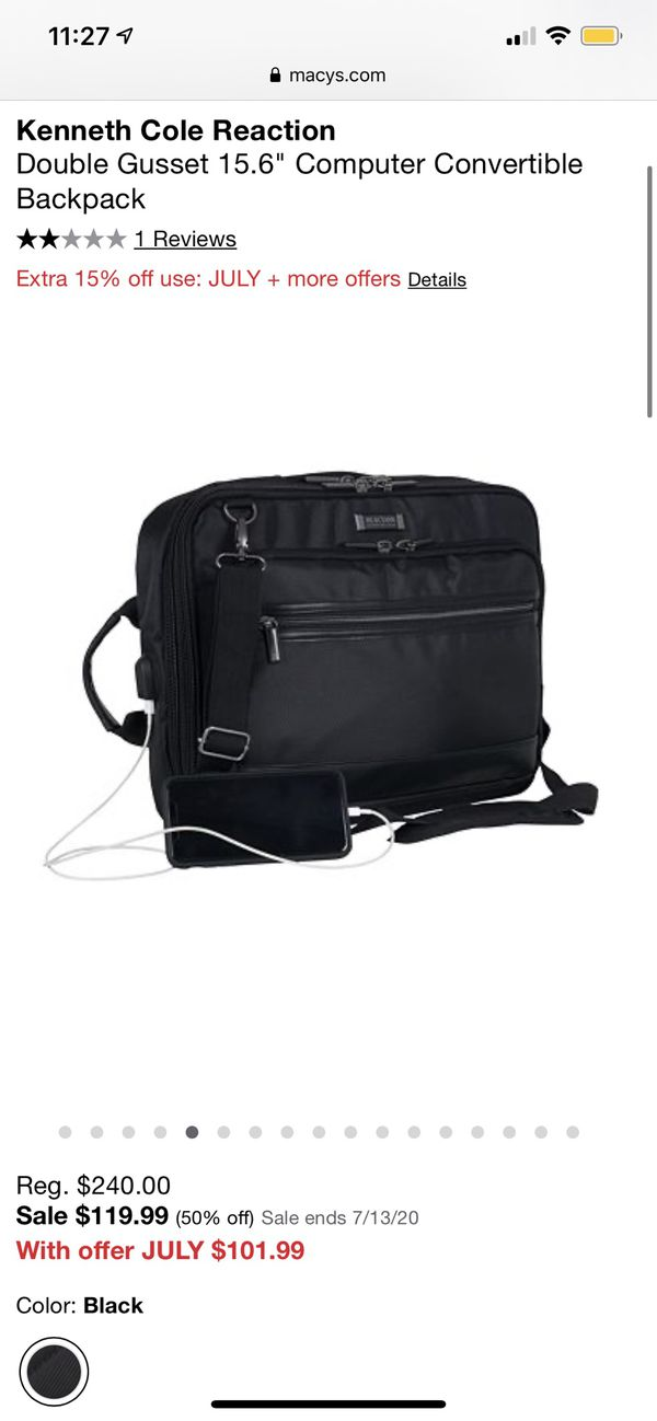 Kenneth Cole Reaction Convertible Laptop Case and Backpack