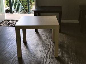 Tan, black and white end tables for Sale in Austin, TX