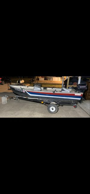12' aluminum boat, 6HP motor and trailer for Sale in Burleson, TX