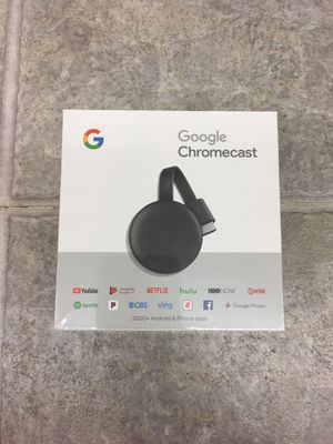 Google Chromecast, 3rd Generation, charcoal GA00439-US for Sale in undefined