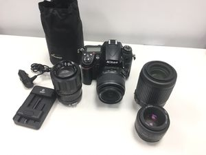 Nikon D7000 16.2MP Digital SLR Camera w/ 4 lenses for Sale in Lynn, MA