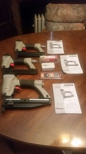 Porter-Cable finish nailer the price include all three nail guns for Sale in Detroit, MI