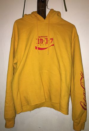 Yellow hoodie Coca Cola sweater for Sale in San Diego, CA