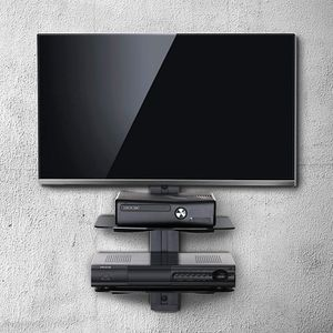 2 Tiers Av Shelf Wall Mount Stand for AV Receiver Component Xbox Cable Boxes for Sale in Los Angeles, CA