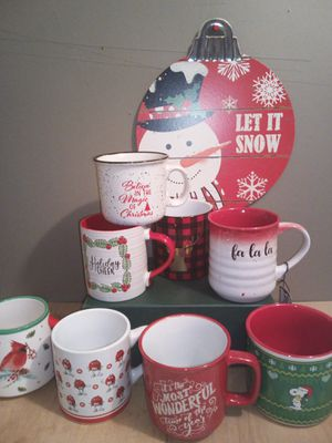 Christmas mugs $4.00 each for Sale in Greenbelt, MD