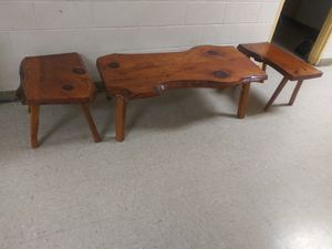 Hand Made Wood Coffee Table & 2 End Tables for Sale in Norfolk, VA