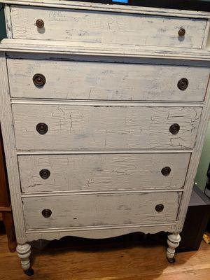 Vintage antique wooden furniture dresser vanity for Sale in Everett, WA