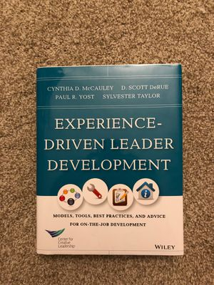 Experience Driven Leadership Development Book for Sale in Lake Forest, CA