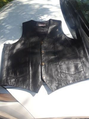 BLACK Leather vest XXL, motorcycle for Sale in League City, TX