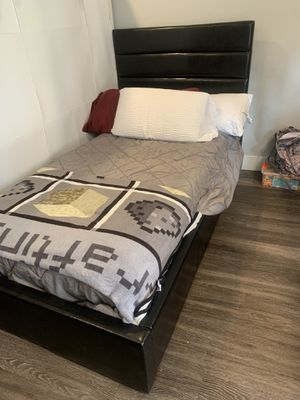 Twin size bed frame 🛌 with underneath storage for Sale in Redwood City, CA