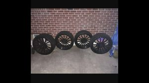 22 inch rims and tires 9 front 10.5 rear Bmw Audi Mercedes for Sale in Queens, NY