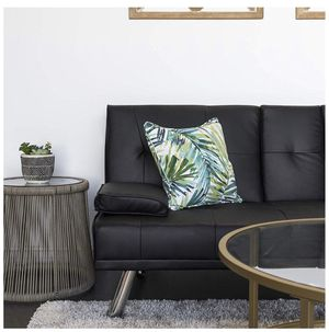 Couch Black leather futon for Sale in San Diego, CA