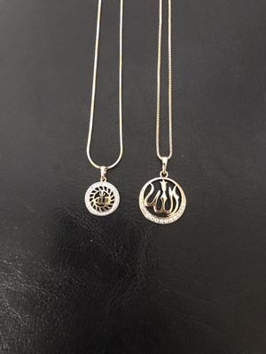 Gold plated allah pendant with chain ($9 each) for Sale in Philadelphia, PA