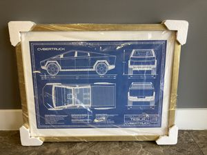 RARE TESLA CYBERTRUCK BLUEPRINT FROM SHOW IN 2019 for Sale in Crystal Lake, IL