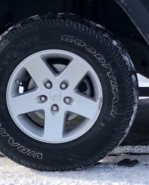 5 Like New Jeep Wrangler Goodyear Tires & Rims for Sale in Boone, NC